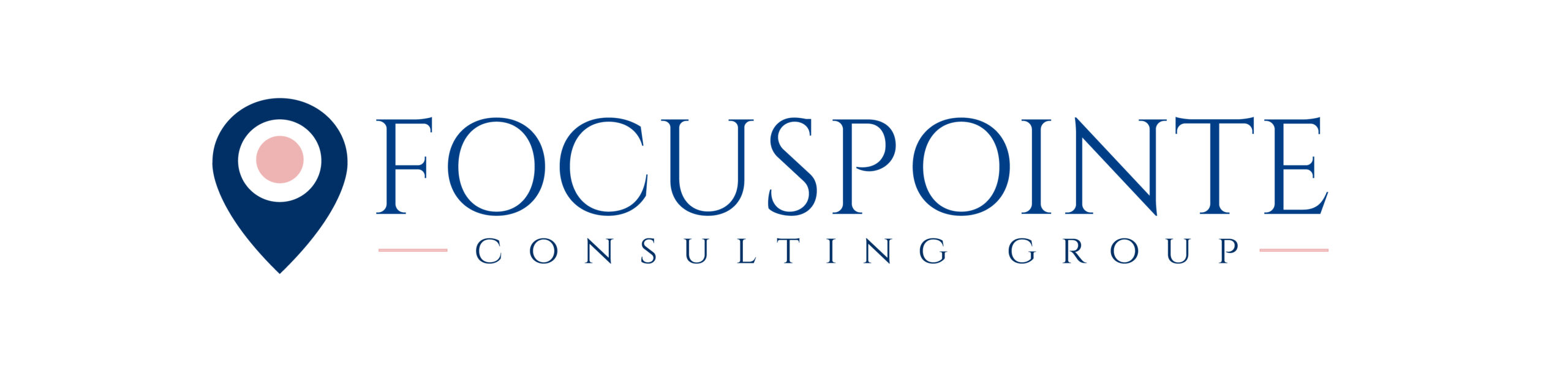 Focuspointe Consulting Group Logo Alt 003F87 EEB4B4 scaled